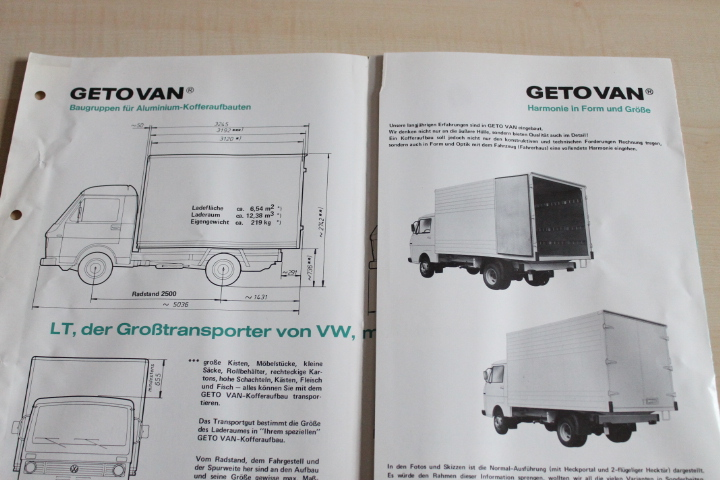 volkswagen lt getovan koffer i typ 28 in. Black Bedroom Furniture Sets. Home Design Ideas