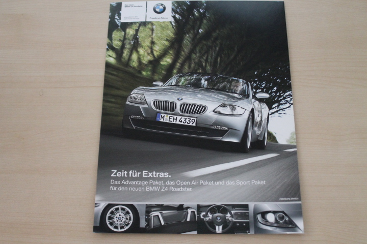 BMW Z4 Roadster Sport Paket Advantage Open Air Prospekt 2006