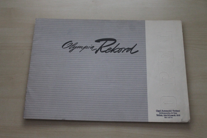 173184 opel olympia rekord prospekt 195 ebay. Black Bedroom Furniture Sets. Home Design Ideas