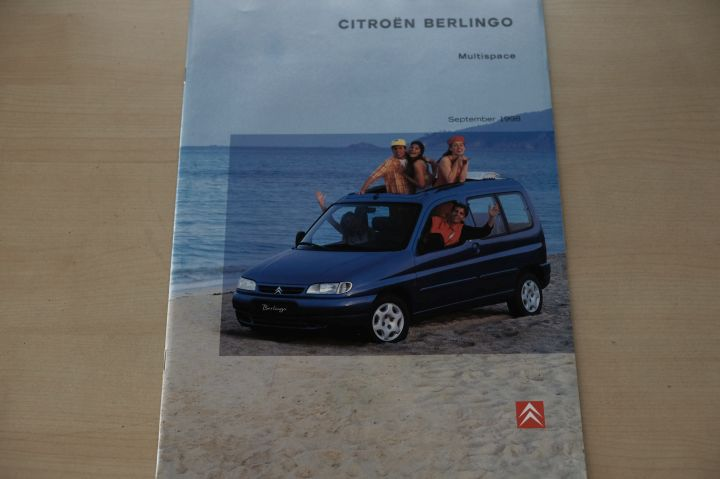 Citroen Berlingo - Multispace - Prospekt 09/1998