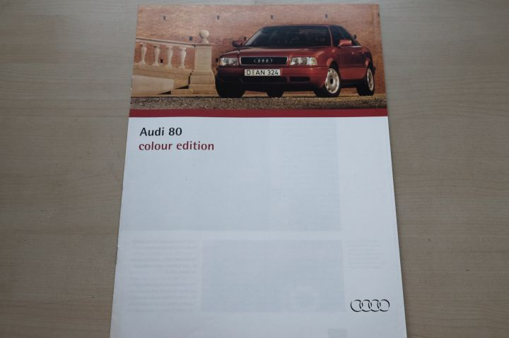 Audi 80 - Colour Edition - Prospekt 01/1994