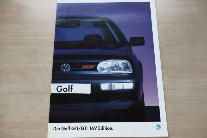 VW Golf III GTi + GTI 16V - Edition - Prospekt 11/1994