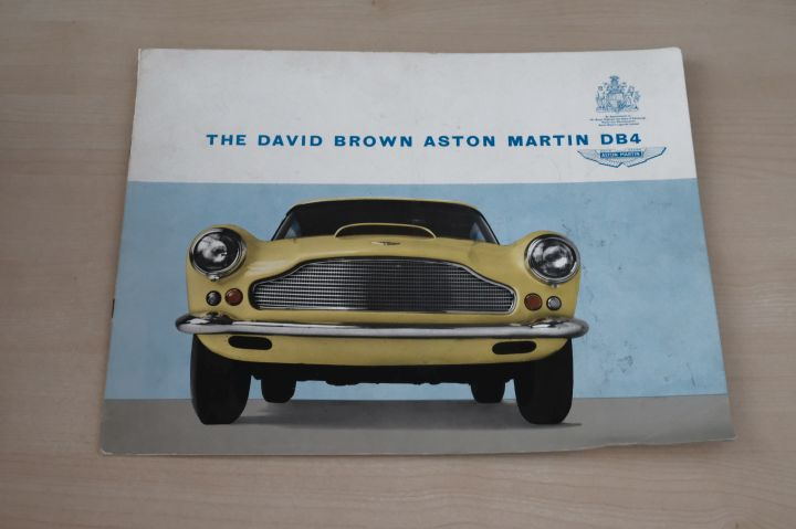 Aston Martin DB4 David Brown Prospekt 196?